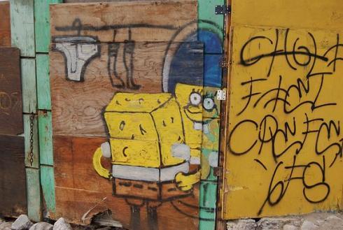 funny sponge bob. Sponge Bob in Tijuana, Mexico